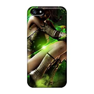 Durable Protector Case Cover With Creative Fantasy Girl Hot Design For Iphone 5/5s