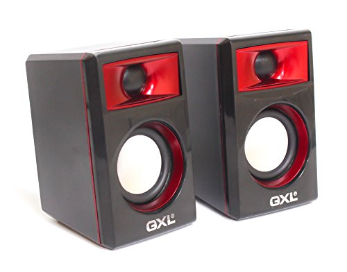 Multimedia 2.0 Speakers By GXL - Portable Size For HQ Crystal Clear Sound - 3.5mm Jack Support