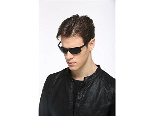 Llevar polarizadas Driving para PanpA de de Marco magnesio Gafas Sol Hombres de Gafas para de HFjingjing Ski Sobre Gafas Aluminio Negro Deportes w1qpTx6nz