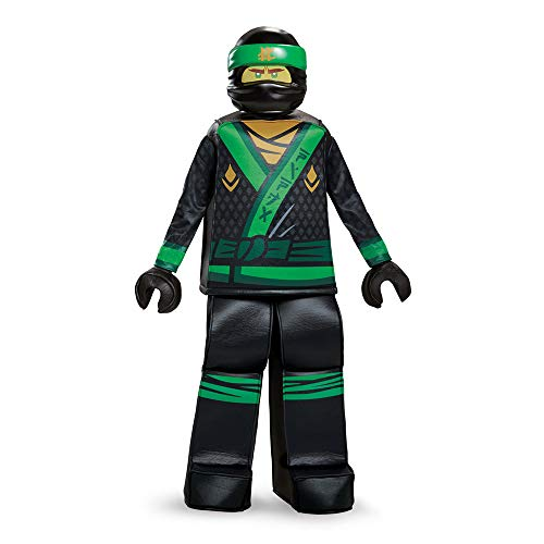 Disguise Lloyd Lego Ninjago Movie Prestige Costume, Green,