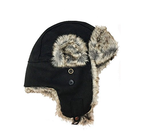 Men's Apt. 9 Textured Faux-Fur Trapper Hat , Black, One Size from Apt. 9®