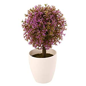 ShineBear Artificial Topiary Tree Ball Plants in Pot Colorful Fake Plant Ball Pot for Garden Home Office Decors 97