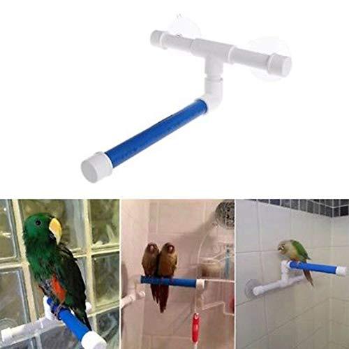 Bird Toys - 1pc Parrot Sranding Platform Standing Bath Shower Plastic White Blue Bird Toy Toys Large Cages - Electronic Cockatoo Treats Swing Bridge Under Plastic Shoes Mimic Pinata Small B