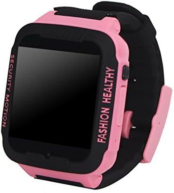 Prettygood7 C3 - Reloj Inteligente para niños (antirrobo, con rastreador GPS para Llamadas telefónicas, Color Negro/Azul)