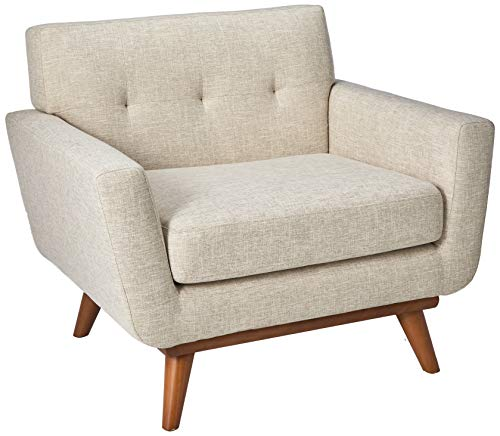 (Modway EEI-1178-BEI Engage Mid-Century Modern Upholstered Fabric Accent Arm Lounge Chair Beige)