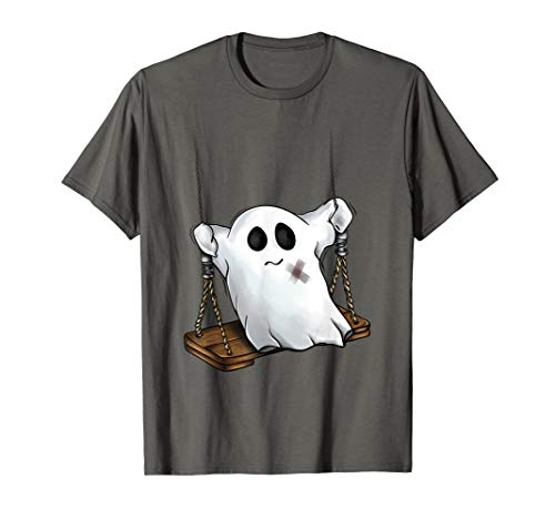 Ghost on a Swing Cute Halloween Costume Kids, Youth T-Shirt