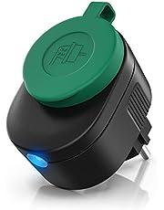 CSL - WLAN outdoor stopcontact - voor buiten - WiFi Smart Socket schakelbaar - compatibel met Android Apple iOS smartphone tablet PC - compatibel met Alexa, Google Home, IFTTT