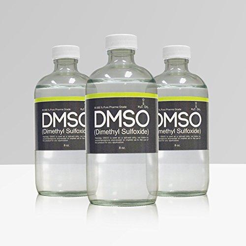 ODOR LESS DMSO 3 Glass 8 oz Bottle Special 99.995% Pharma Grade Dimethyl - For Less Glasses