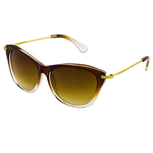 GOOD LOOK UV Protected Cateye Women's Sunglasses-(W416|58|Brown Lens)