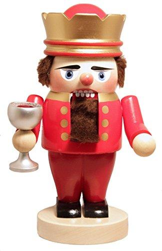 (Pinnacle Peak Trading Company Steinbach SIGNED King Arthur with Chalice German Wood Christmas Nutcracker New)