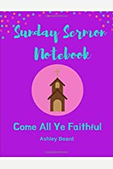 Sunday Sermon Notebook Paperback