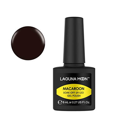 - Lagunamoon Gel Nail Polish Soak Off Gel Polish UV LED Nail Lacquer Art Marcaron Color Varnish - Mahogany