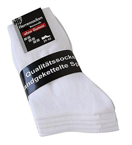Calcetines blancas sin élasthique hombre blanco calcetín sin élasthique – Calcetines para hombre color blanco 100