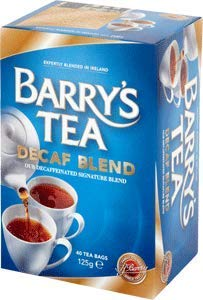 Decaffeinated Irish Tea - Barrys Tea Decaffeinated 40 bag x 2 (250g) (80 count)