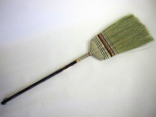 最高級手編み 座敷箒 長柄 13玉 10本セット 毛の量が多くなっています。日光箒 昔ながらの座敷ほうき(長柄草ホーキ) ほーき*5本までが1甲口扱いです* B013T0KU3Y