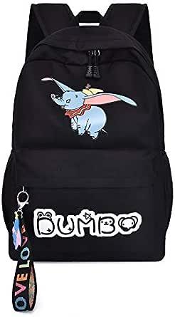حقيبة ظهر نسائية كاجوال بسيطة بنمط رياضي لفيل يطير رسوم متحركة