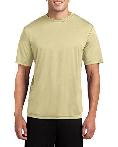 Dri-Wick Mens Big & Tall Sport Performance Moisture Wicking Athletic T Shirt (Vegas Gold, 3X - Outlets Las Clothing Vegas