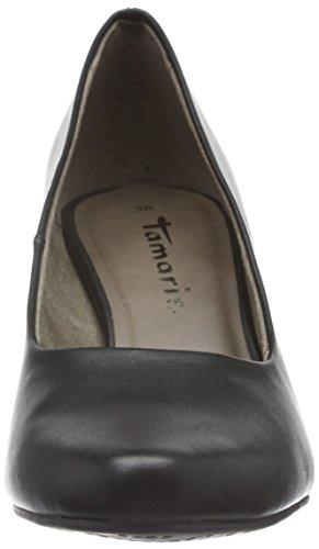 Tamaris Women's 22423 Closed-Toe Pumps, Nude Patent, 5 UK Black (Black Matt 020)