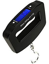110lb/50kg Portable Electronic Scale with LCD Display Backlight for Fishing Luggage
