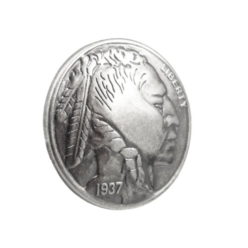 Springfield Leather Company Old Silver Indian Head Coin Upholstery Tack 50 Pack by Springfield Leather Company (Image #1)