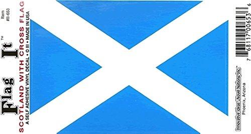 (Scotland Cross Flag Car Decal Sticker [3.5x5