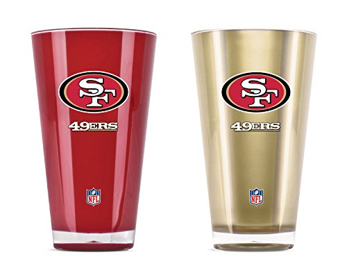 NFL San Francisco 49Ers 20oz Insulated Acrylic Tumbler Set of 2