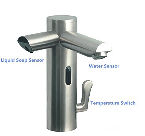 GOWE Automatic touchless faucet sensor faucet with foam soap dispenser Sensor faucet dispenser for soap basin mixe basin tap sink tap by Gowe