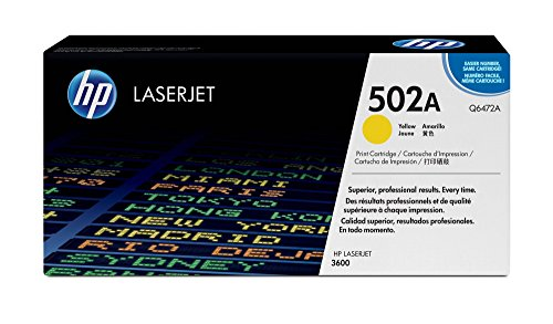 - HP 502A (Q6472A) Yellow Toner Cartridge for HP Color LaserJet 3600 (Renewed)