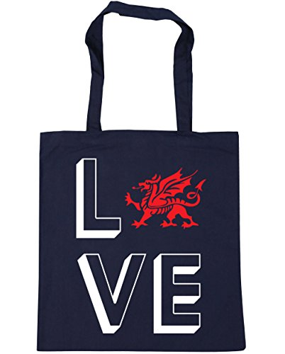 Bag Gym x38cm Wales Tote French Navy Shopping litres 10 HippoWarehouse Beach Love 42cm qWp4B4an