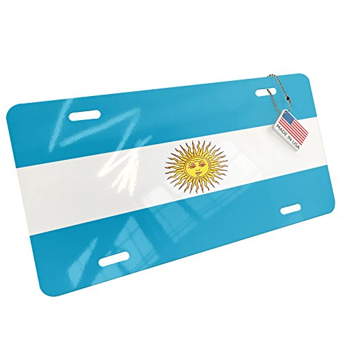 Argentina Flag License Plate - NEONBLOND Metal License Plate Argentina Flag