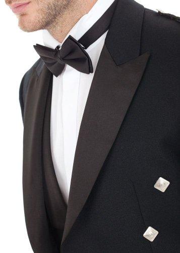 Kilt Society Mens Scottish Black Prince Charlie Kilt Jacket & Vest 52 Regular by Kilt Society (Image #3)