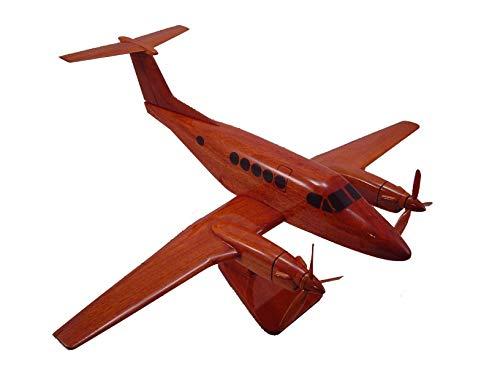 (Beechcraft King Air 200 Mahogany Wood Desktop Airplane Model )