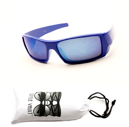 Kd218-vp Kids Child (3-8yr) Sports Flash Mirrored Cycling Surfer Sunglasses (Blue, - Sunglasses Surfers
