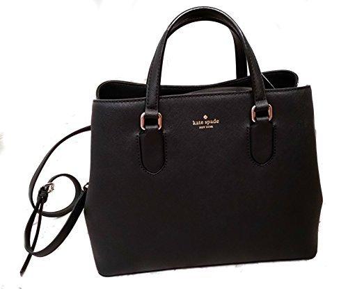 Kate Spade New York Laurel Way Evangelie Saffiano Leather Shoulder Bag Satchel (Black) by Kate Spade New York