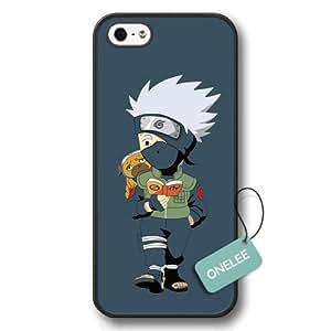 (TM) Japanese Anime Naruto Hard Plastic Funda iphone 5/5s Caso Case & Cover - negro