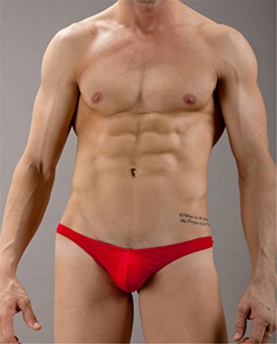 Stretchy Stretch G Underwear Wlittle Mesh back Sheer Briefs Rise Red Underpants Sexy Thin Men's T Low Bikini Underpant string Breathable Thong Jockstrap qwzHaCw