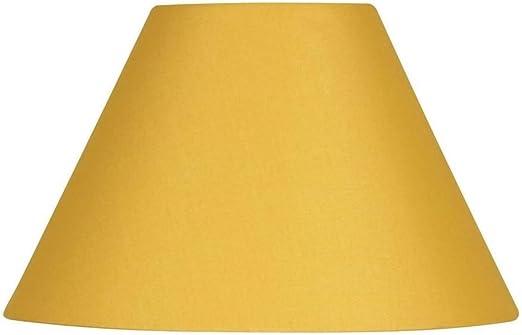 Pantalla dura de algodón para lámpara, con cardán reversible, color amarillo mostaza, ideal para lámparas de