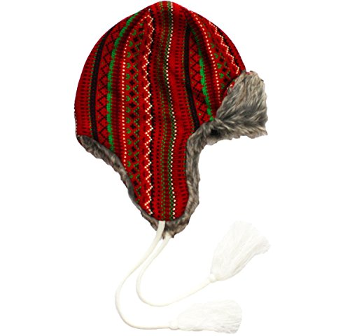 The Kosby Ugly Christmas Knit Hat in Red By Festified
