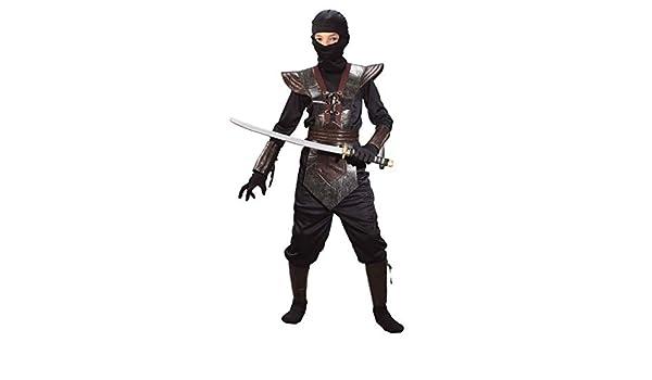 Ninja Fighter Kids L Traje Marrón Tamaño: Amazon.es ...