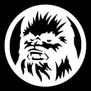 "Price comparison product image Star Wars Inspired Chewbacca Sci Fi Vinyl Decal Sticker|WHITE|Cars Trucks Vans SUV Laptops Wall Art|5.25"" X 5.25""