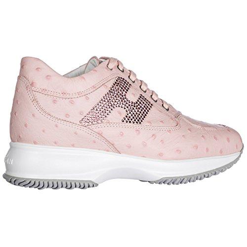 Interactive en Femme Cuir Rose Hogan Sneakers Chaussures Baskets FwqAwRYI