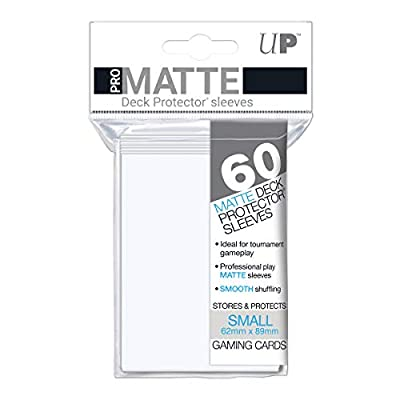 Ultra Pro PRO-Matte Small Deck Protector Sleeves for Yu-Gi-Oh and Cardfight Vanguard - White (60 ct.): Sports & Outdoors