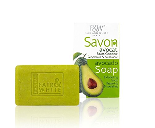 Exfoliating Avocado Bar Soap For Face and Body, Hydrates and Softens Skin -7 Oz- By Fair  White