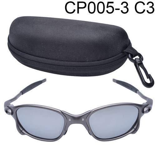 FidgetFidget X-Metal Juliet Cyclops Sunglasses Ruby Red Polarized Lenses Titanium Goggles Silver