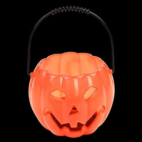 SaveStore Halloween Pumpkin Lantern Light Lamp Pumpkin Candy Barrel Bucket Sound Effects Kids Child Gifts Halloween Party Supplies 2017 -