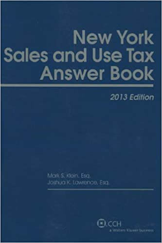 New York Sales & Use Tax Answer Book (2013)