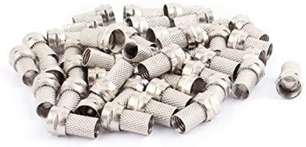 Amazon.com: Ucland 48 Pcs RG6 Cable Alloy Screw On Coaxial F ...