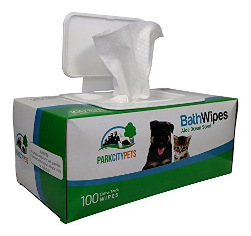 Park-City-Pets-Dog-Cat-Grooming-Wipes-Large-Hypoallergenic-Bath-Wipes-100-count-Eco-Friendly-Box