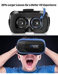 Auriculares VR para iPhone y teléfono Android   Gafas universales de realidad virtual   Juegue sus mejores juegos móviles Películas 360 con suaves y cómodas Nuevas gafas 3D VR   + Sistema de protección ocular ajustable