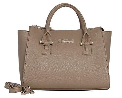Kenneth Cole Reaction KN1550 Magnolia Handbag Top Handle Messenger Crossbody Shoulder Bag (FLAX) by Kenneth Cole REACTION